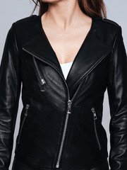Sculpt Australia womens leather jacket Emma Black Leather Jacket