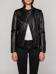 Sculpt Australia womens leather jacket Harper Black Biker Leather Jacket