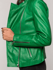 Sculpt Australia womens leather jacket Harper Green Leather Jacket