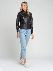 Sculpt Australia womens leather jacket Jennie Black Leather Jacket