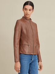 Sculpt Australia womens leather jacket Jennie Brown Leather Jacket