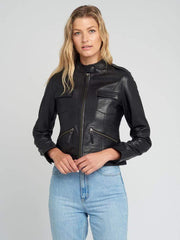 Sculpt Australia womens leather jacket Jessie Black Leather Jacket