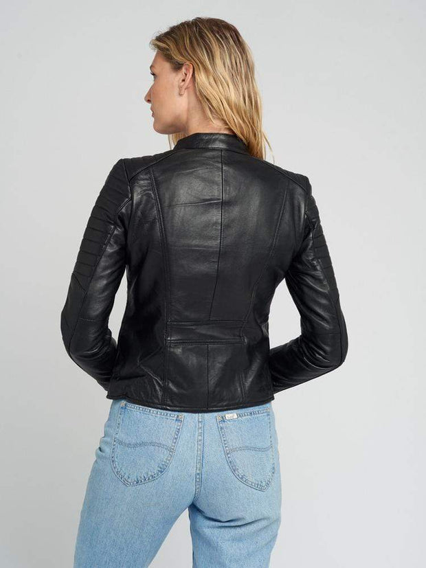 Sculpt Australia womens leather jacket Jessy Black Quilted Leather Jacket