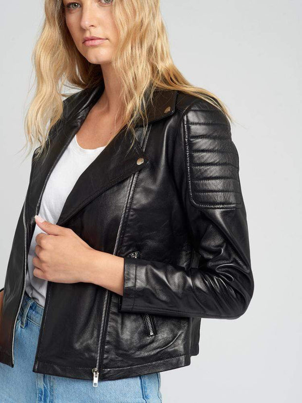 Sculpt Australia womens leather jacket Keira Black Leather Jacket
