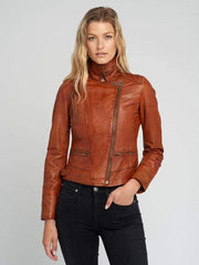 Sculpt Australia womens leather jacket Ladies Tanned Leather Jacket