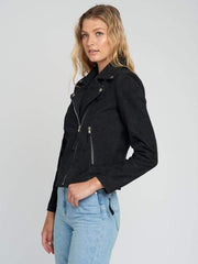 Sculpt Australia womens leather jacket Lapel Collared Suede Leather Jacket