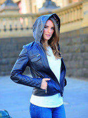 Sculpt Australia womens leather jacket Marve - Hooded Women's Leather Jacket