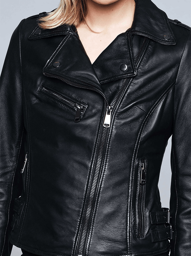 Sculpt Australia womens leather jacket Ruby Black Leather Jacket