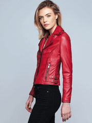 Sculpt Australia womens leather jacket Ruby Red Leather Jacket
