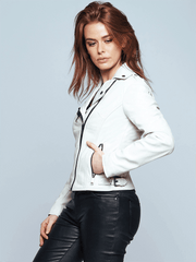Sculpt Australia womens leather jacket Ruby White Leather Jacket
