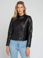 Sculpt Australia womens leather jacket Sarah Black Leather Jacket
