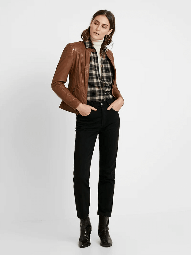 Sculpt Australia womens leather jacket Sarah Brown Leather Jacket