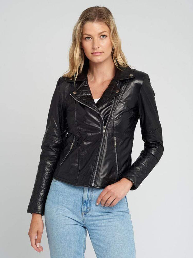 Sculpt Australia womens leather jacket Sculpt's Black Moto Leather Jacket