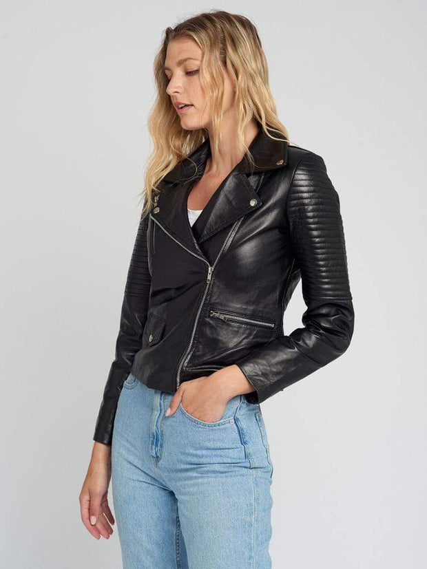 Sculpt Australia womens leather jacket Sculpt's Quilted Hands Leather Jacket