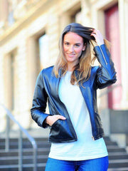 Sculpt Australia womens leather jacket Sculpt's  Women's bomber leather jacket