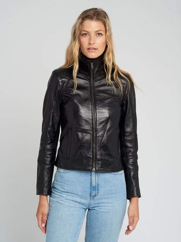 Sculpt Australia womens leather jacket Stephanie Black Leather Jacket