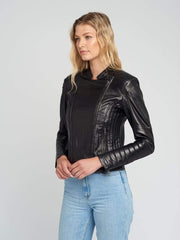 Sculpt Australia womens leather jacket Vintage Quilted Leather Jacket