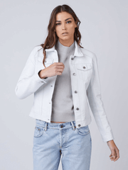 Sculpt Australia womens leather jacket White Trucker Leather Jacket