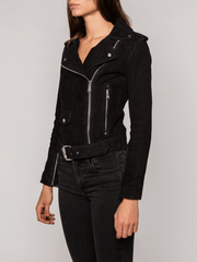 Sculpt Australia womens leather jacket Zoe Black Suede Jacket