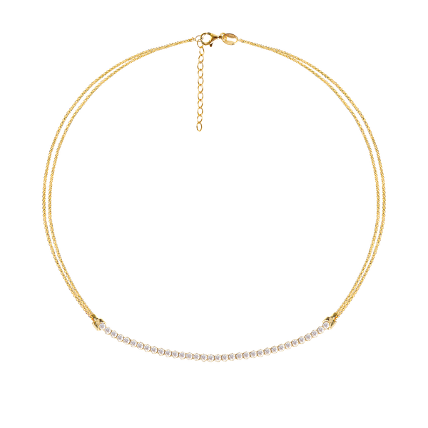WHITE TRACY GOLD NECKLACE