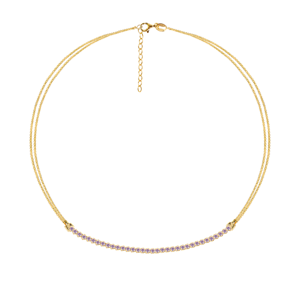 LILAC TRACY GOLD NECKLACE