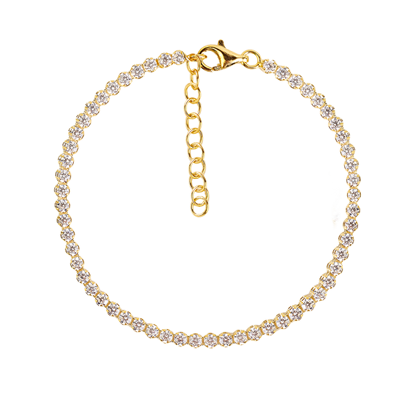 WHITE TRACY GOLD BRACELET