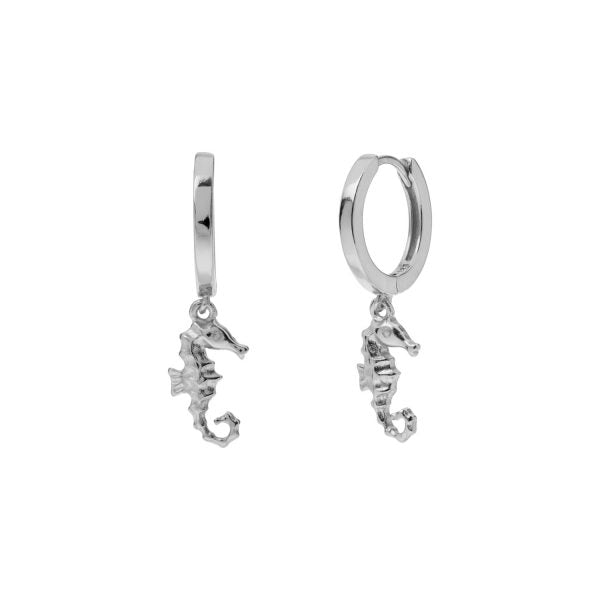 SEAHORSE SILVER EARRINGS