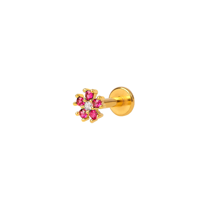 CHERRY FLORAL GOLD PIERCING