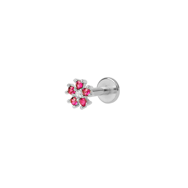 CHERRY FLORAL SILVER PIERCING