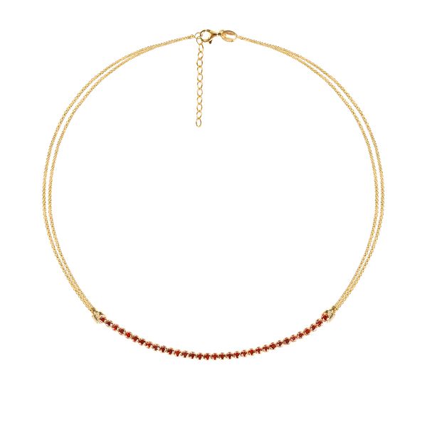 CHERRY TRACY GOLD NECKLACE