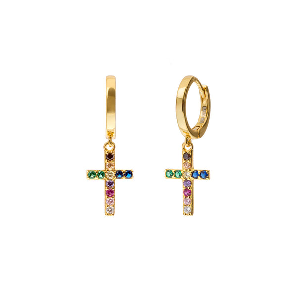CROSS MULTICOLOR GOLD | ALEYOLÉ Jewelry
