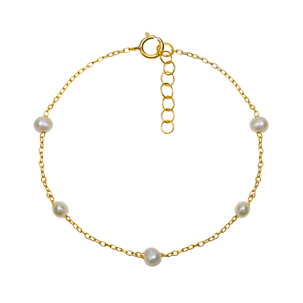 SATIN GOLD BRACELETI | ALEYOLÉ Jewelry