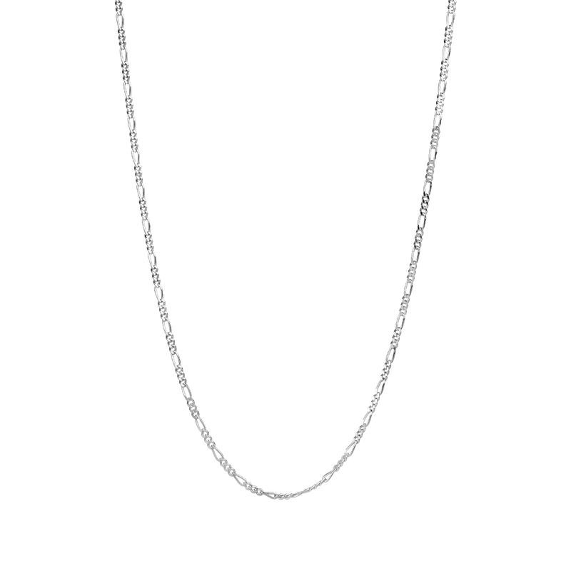THIN FIGARO CHAIN SILVER