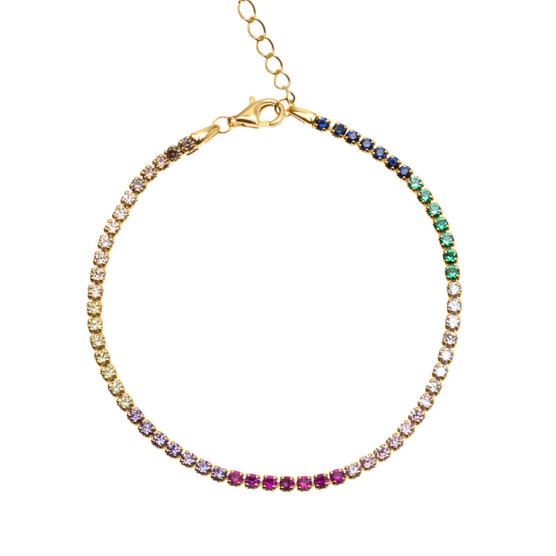 RAINBOW RIVIÈRE GOLD | ALEYOLÉ Jewelry