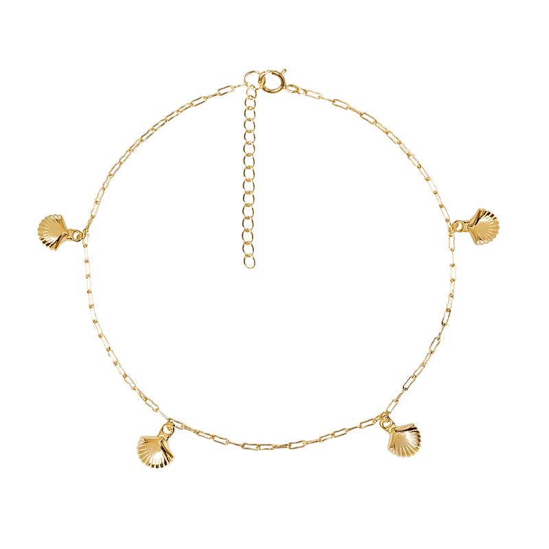 SHELLY GOLD ANKLET