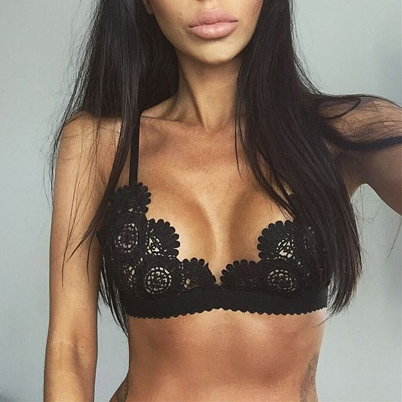 2018 New Womens Sexy Lingerie Push Up Lace Open Bras Bralette