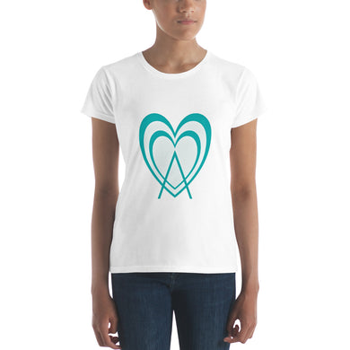 Women's short sleeve t-shirt Aheart