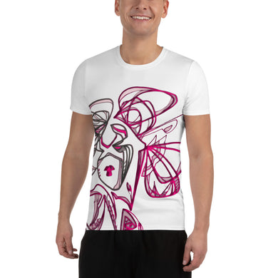 All-Over Print Men's Athletic T-shirt Gsha Pink