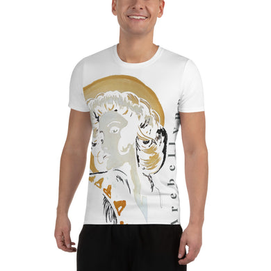 All-Over Print Men's Athletic T-shirt Geshia