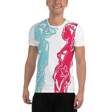 All-Over Print Men's Athletic T-shirt Double Trebel