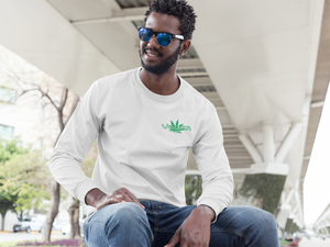Men's Long Sleeve Vegan 420 white