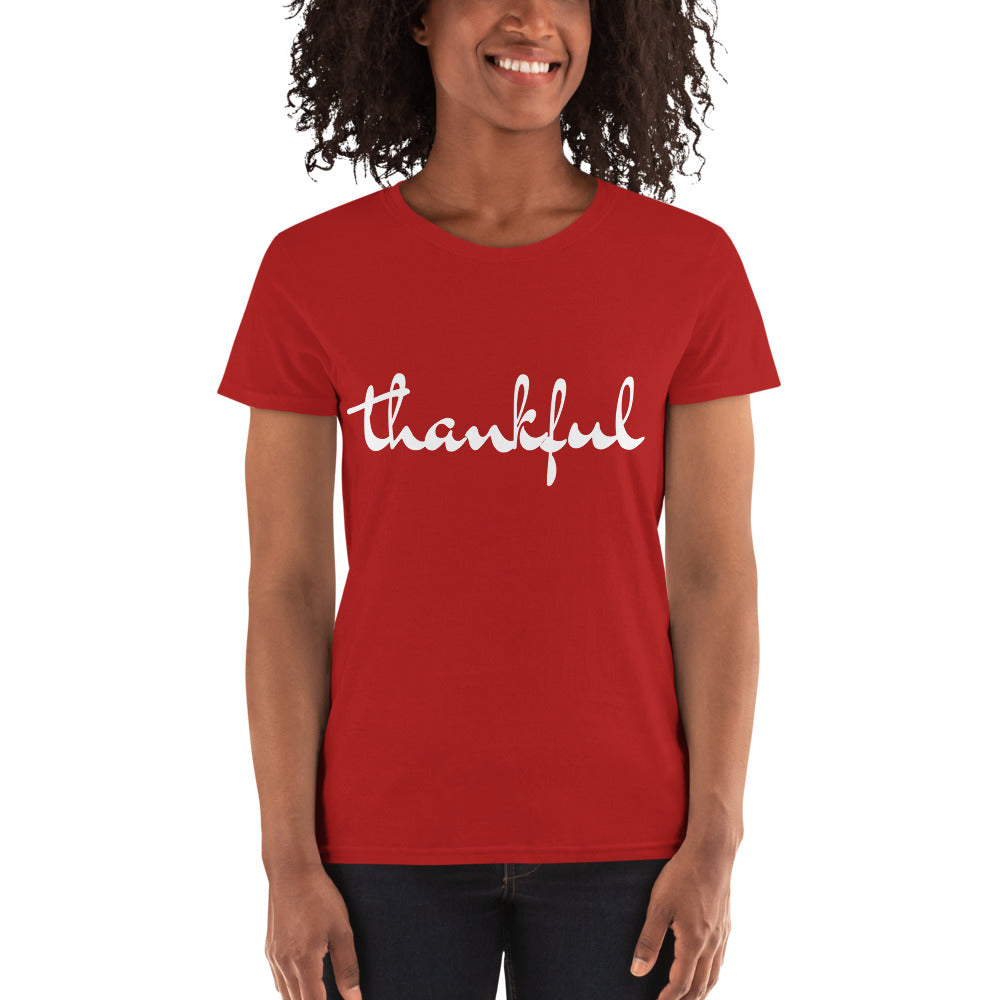 T-shirt thankful tailliert red
