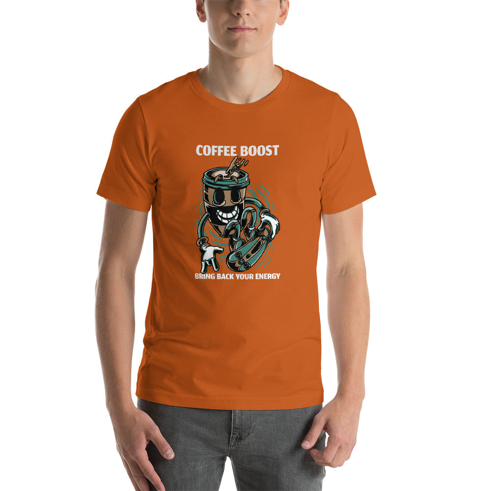 "Short-Sleeve Unisex T-Shirt ""Coffee Boost"""