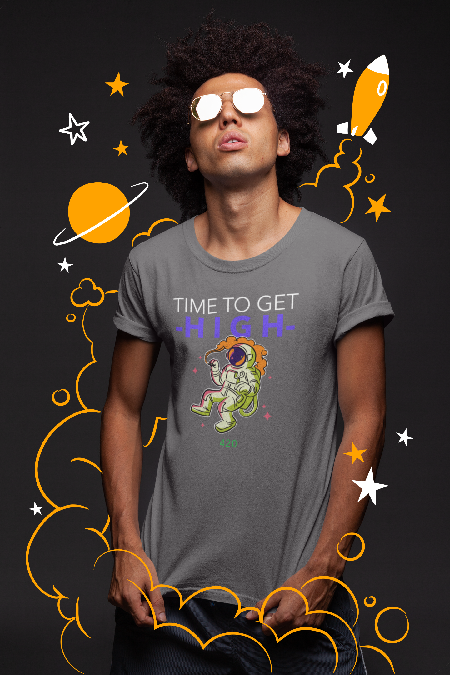 Time to get HIGH Spaceman 420 T-shirt