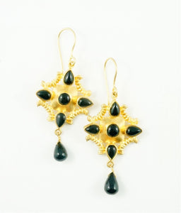 """Diana"" Black Onyx Earrings"