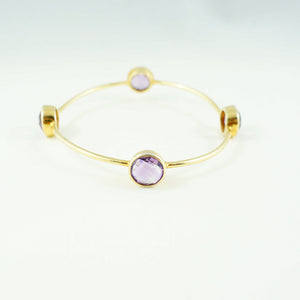 Amethyst Gem Bangle