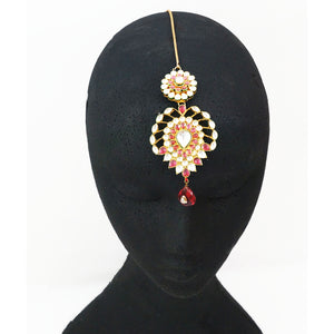"""Anarkali"" Kundan Headpiece (Maang Tikka) - SAMPLE"