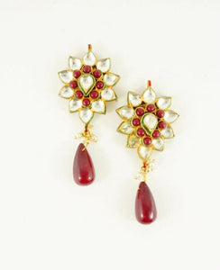 "Red Kundan ""Angelina"" Earrings"