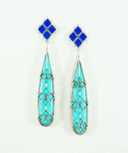 Athena - Turquoise Earrings