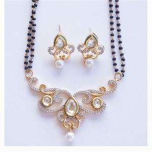 """Barkha"" Traditional Mangalsutra Necklace and Earring Set"